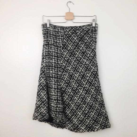 c1ee6c22 Zara Skirts | Asymmetrical Tweed Midi Skirt | Poshmark